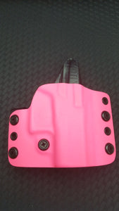QUICK SHIP 2AGW Right Hand Tactical OWB for Glock 42 in Hot Pink Kydex - 2nd Amendment Gun Works