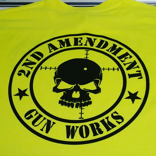 Safety Green Hi Viz Safety Work Gear 2AGW Hoodie Hooded Sweatshirt - 2nd Amendment Gun Works