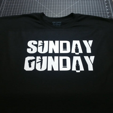 Sunday Gunday T-Shirt - 2nd Amendment Gun Works