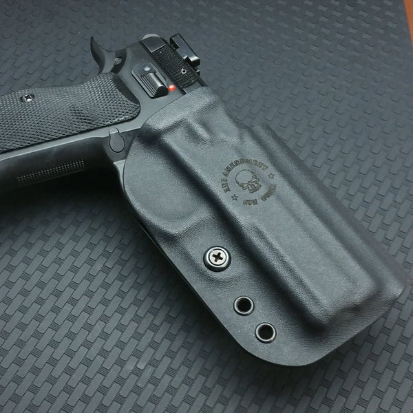 Competition OWB Carbon Fiber & Custom Patterns Kydex Holster - 2nd Amendment Gun Works