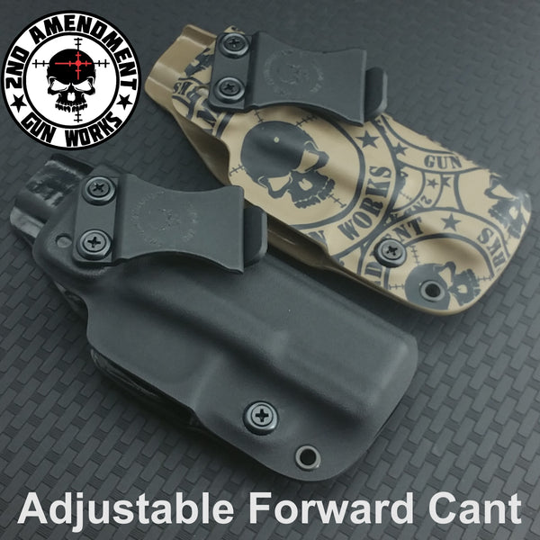 Hybrid DEEP IWB Black Kydex Holster - 2nd Amendment Gun Works