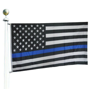 Thin Blue Line Police American Flag USA 3x5 - 2nd Amendment Gun Works