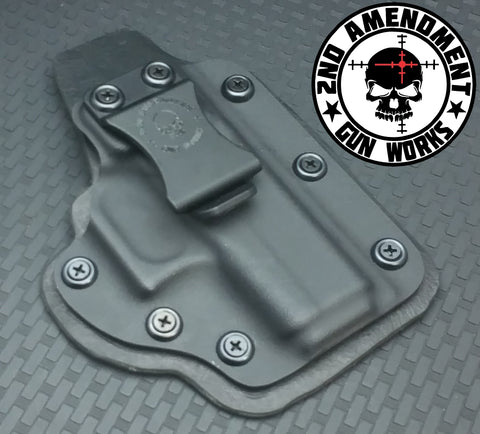 Hybrid IWB Black Kydex Holster - 2nd Amendment Gun Works
