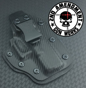 Hybrid DEEP IWB Carbon Fiber & Custom Patterns Kydex Holster - 2nd Amendment Gun Works
