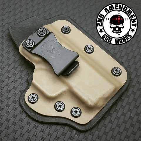 Hybrid DEEP IWB Solid COLOR Kydex Holster - 2nd Amendment Gun Works
