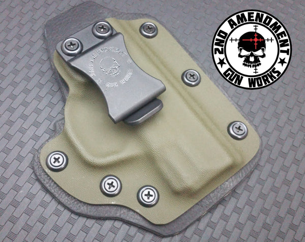 Hybrid IWB Solid COLOR Kydex Holster - 2nd Amendment Gun Works