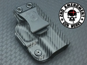 Minimalist DEEP IWB Carbon Fiber & Custom Patterns Kydex Holster