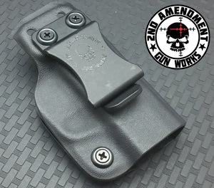Minimalist DEEP IWB Black Kydex Holster - 2nd Amendment Gun Works