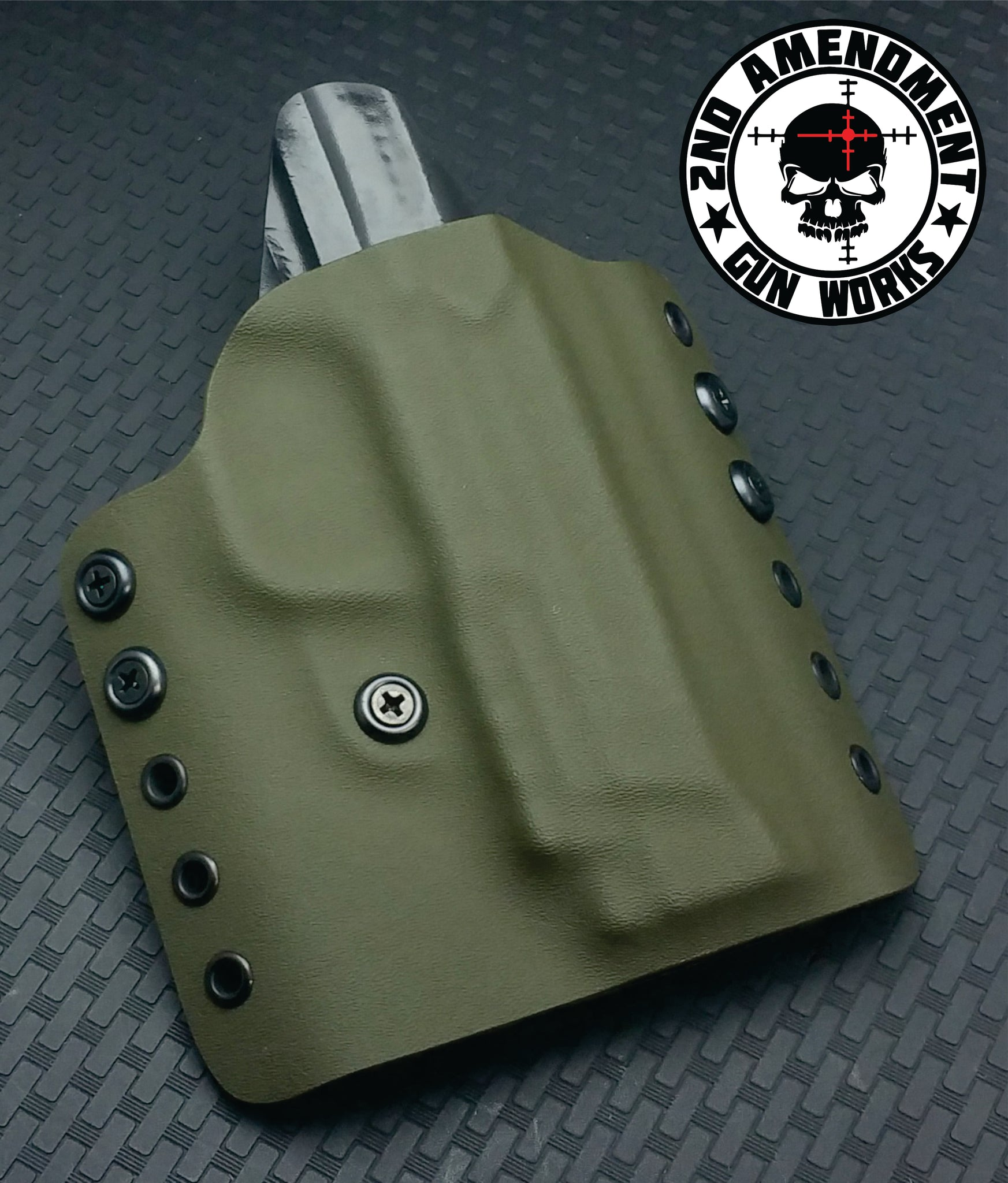 Tactical OWB Solid COLOR Kydex Holster - 2nd Amendment Gun Works