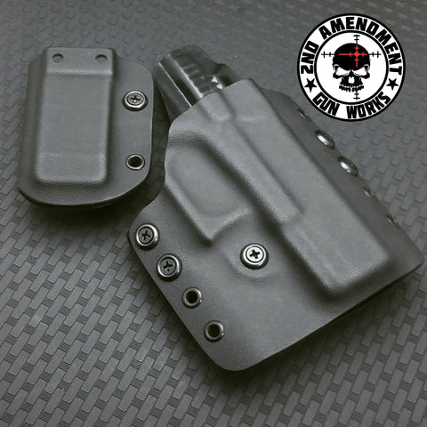 Tactical Range OWB Package Black Kydex Holsters - 2nd Amendment Gun Works