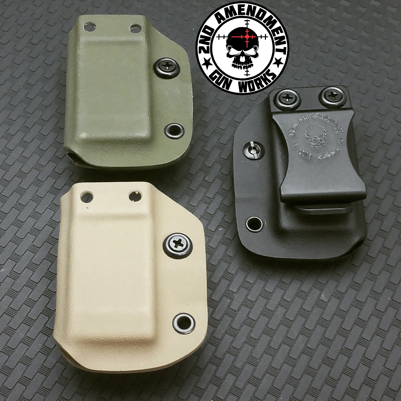 Single Pistol Magazine Carrier IWB/OWB Black Kydex - 2nd Amendment Gun Works