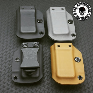 Single Pistol Magazine Carrier IWB/OWB Solid Color Kydex - 2nd Amendment Gun Works