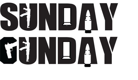 "Sunday Gunday 6"" Vinyl Decals - 2nd Amendment Gun Works"