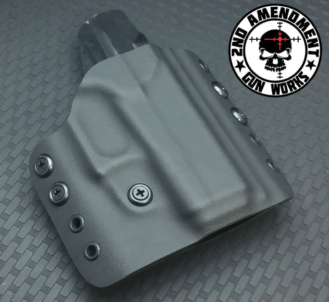 Tactical OWB Black Kydex Holster - 2nd Amendment Gun Works