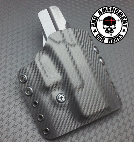 Tactical OWB Carbon Fiber & Custom Patterns Kydex Holster - 2nd Amendment Gun Works