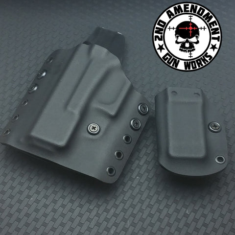 Tactical Range OWB Package Solid COLOR Kydex Holsters - 2nd Amendment Gun Works