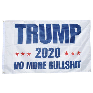 Donald Trump 3x5 Flag No More Bullshit Make America Great Again MAGA President USA Patriot Banner 2020 - 2nd Amendment Gun Works
