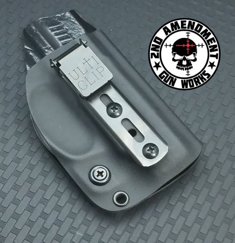 ULTI CLIP IWB Carbon Fiber & Custom Patterns Kydex Holster - 2nd Amendment Gun Works