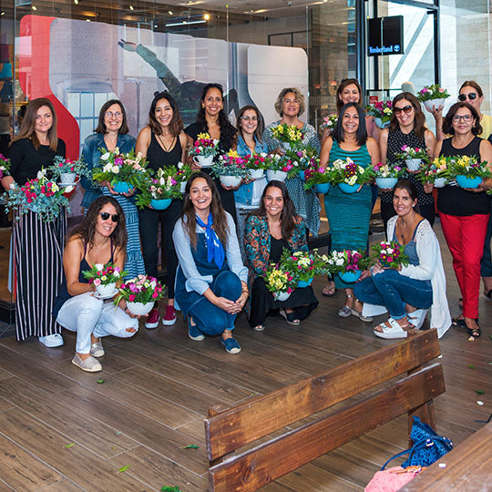 Workshop Flores / CENTROS DE MESA / Fecha: 6 de Abril