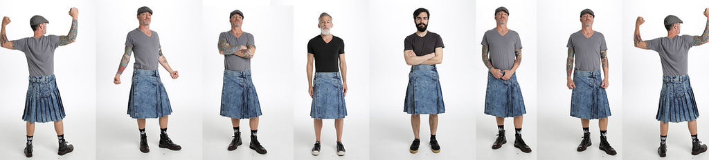 The Most Stylish Denim Kilt to Aspire