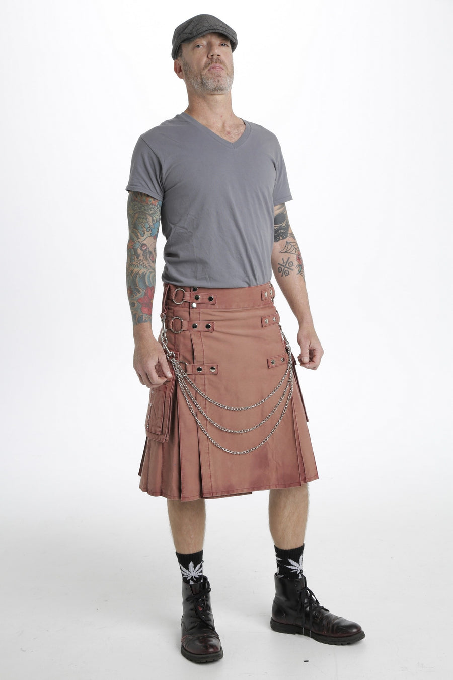 stonewashed fabric kilt