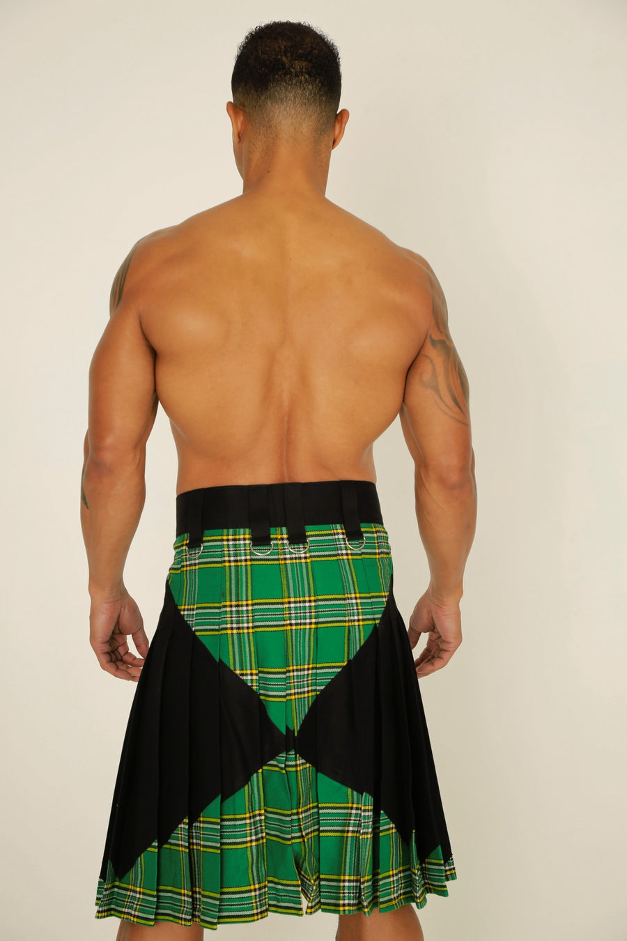 x men tartan hybrid kilt back view