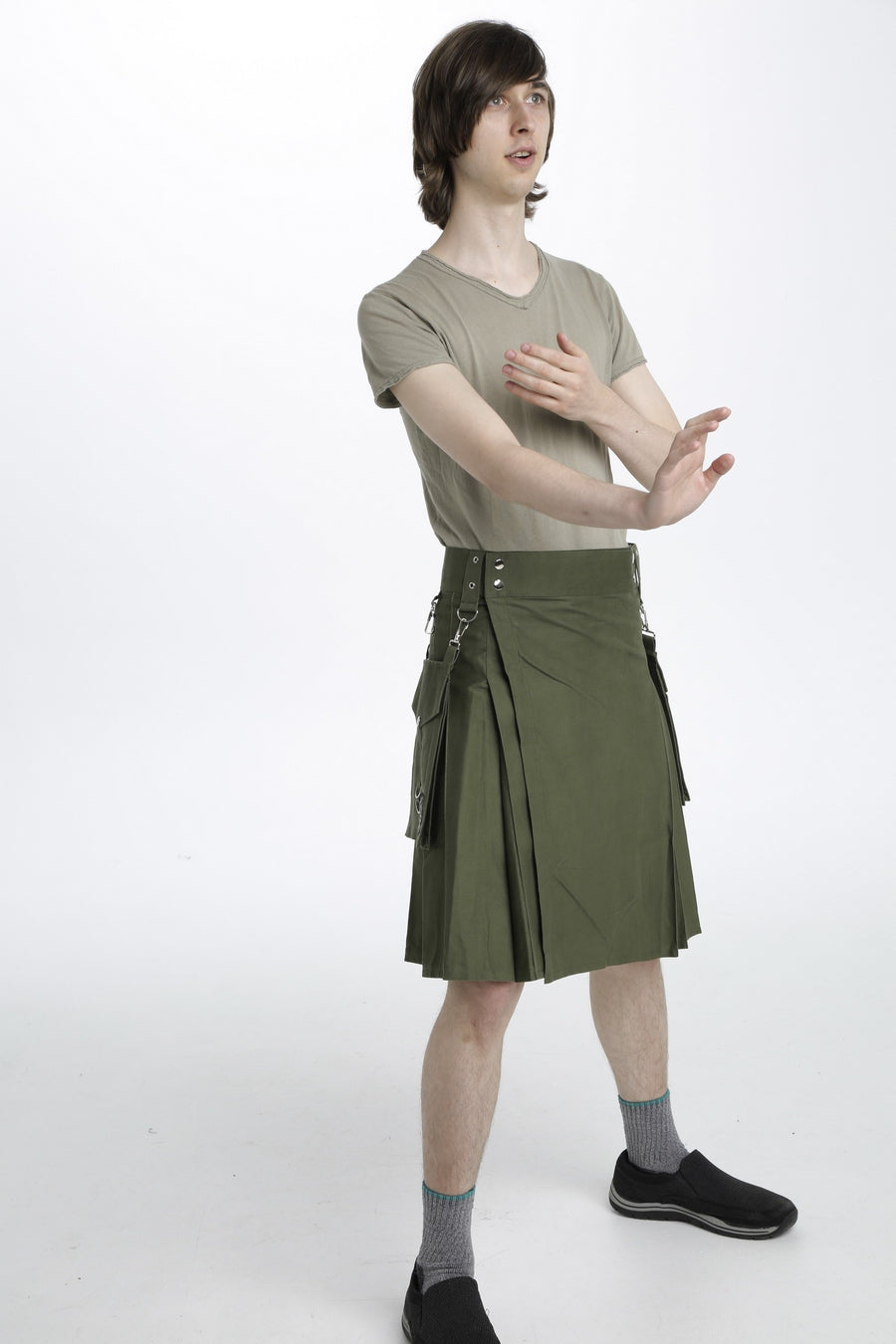 running kilt side view
