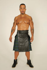 hybrid leather kilt