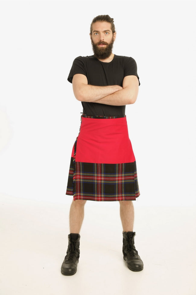 Fashion hybrid kilt-front