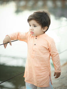 Figo Kids - Peach Kurta