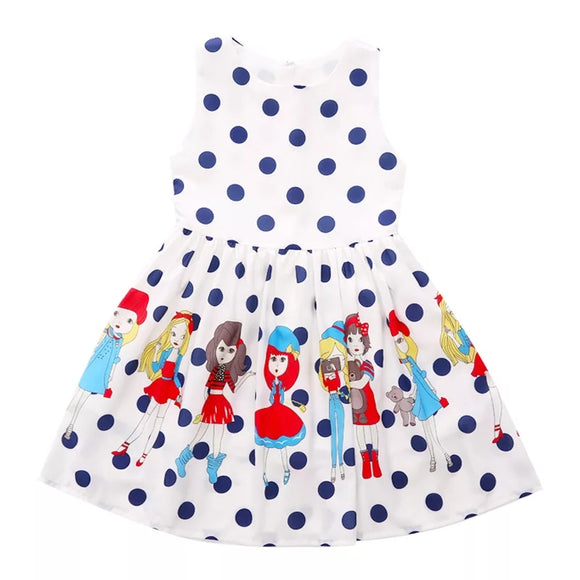 Imported - Polka Dot Frock - White