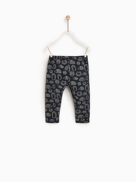 Bclub - Navy Blue Printed Trouser