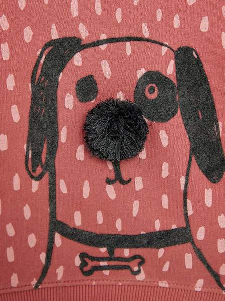 ZR - Pink Dog Print Sweat Shirt