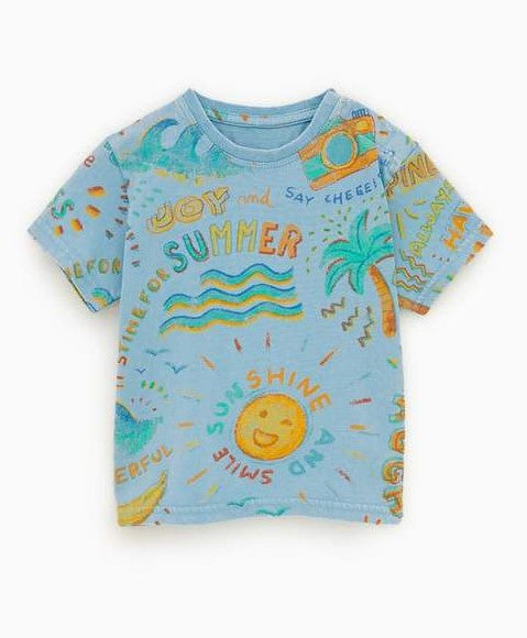 ZR - Sun & Palm Trees T- Shirt