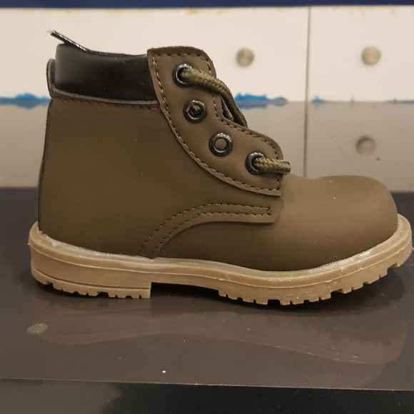 Olive Long Boots