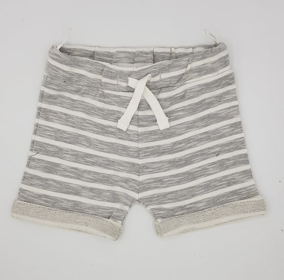 BClub - Grey White Stripe Short