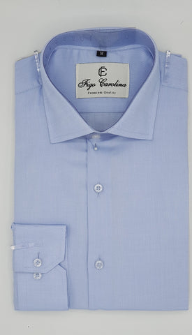 Blue Micro Texture Formal Shirt - Figo & Co.