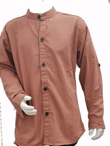 CHKE - Light Mustard Full Sleeves shirt