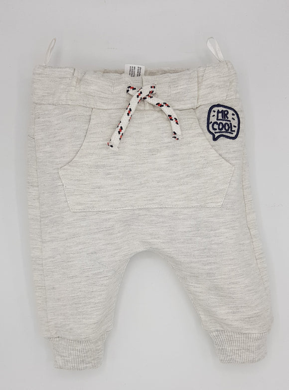 Bclub - White Dog Print Trouser