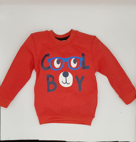 Bclub - Red cool boy Print Sweat Shirt