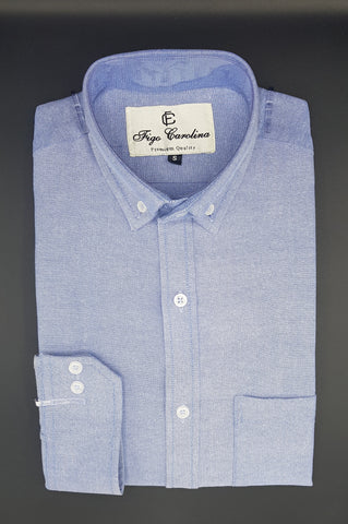 Light Blue Polo Semi-Formal Button Down Shirt - Figo & Co.