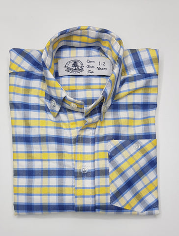 Figo & Co. - Blue & Yellow Check Shirt