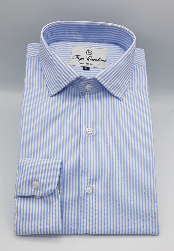 Blue Stripes Classic Formal Shirt - Figo & Co.