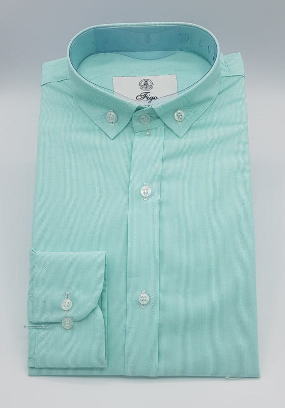 Green Button Down Semi-Formal Shirt - Figo & Co.
