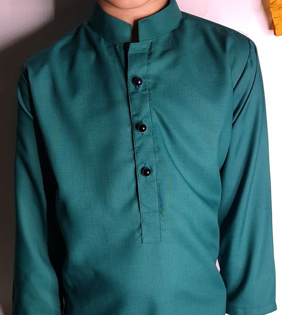 Dark Green Kurta By Figo Kids