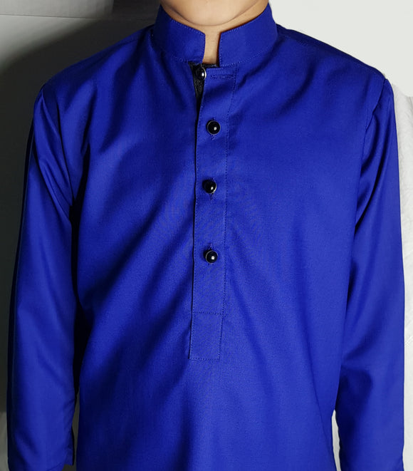 Royal Blue Kurta By Figo Kids