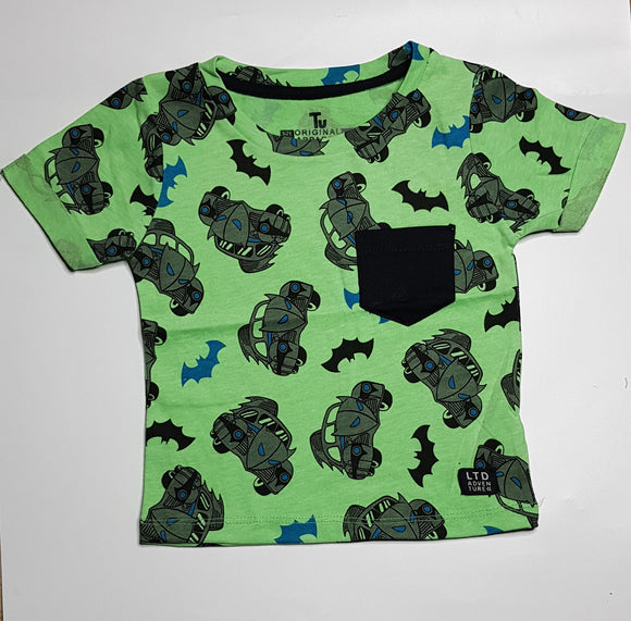 Tu - Green BatMobile Pocket T-Shirt