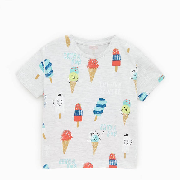 ZR - Ice Cream Printed T- Shirt