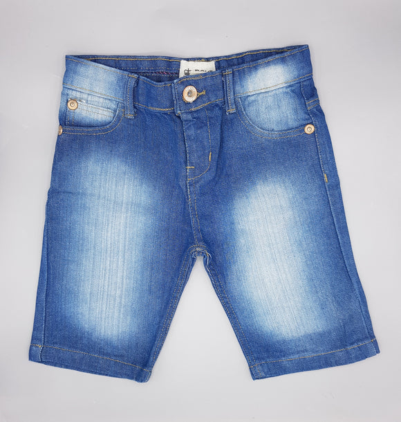 Nxt - Denim Light Blue Faded Shorts