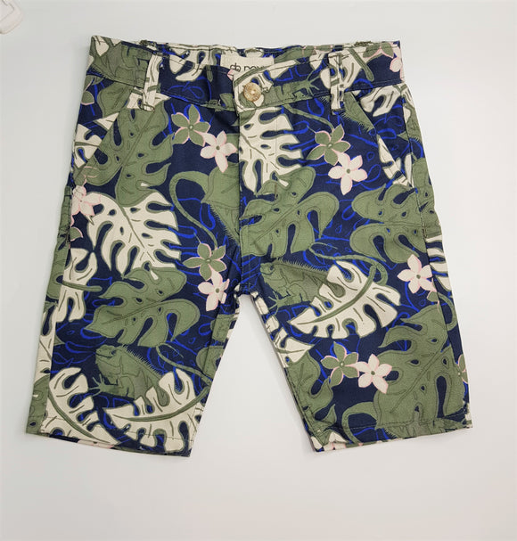 Nxt - Floral Beach Green Cotton Short